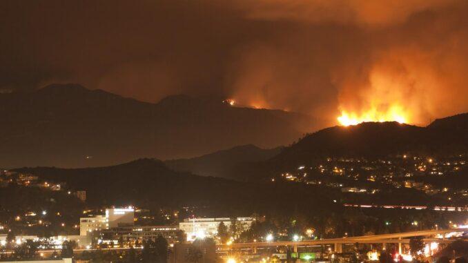 wildfire hazard in Los Angeles